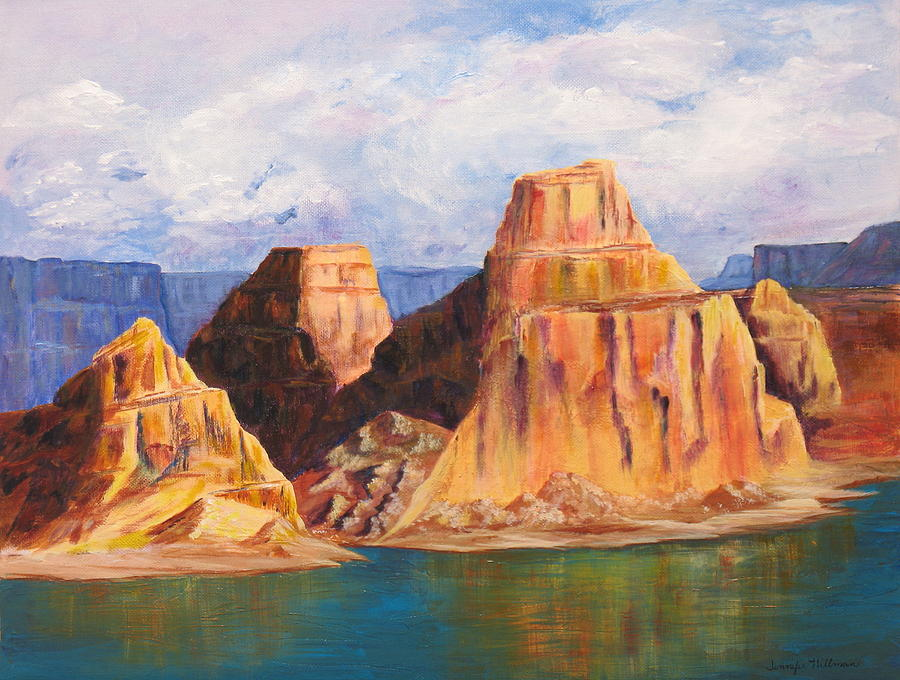Landscape Painting - Padre Bay Lake Powell by Jennifer Hillman