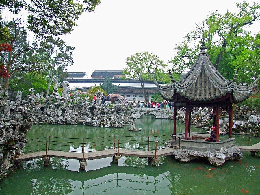 Chinese Garden Photograph   Pagoda In The Garden By Bai Qing Lyon
