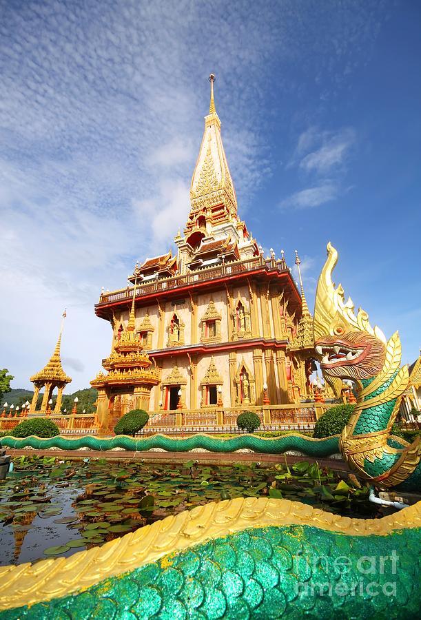 Architecture Photograph - Pagoda In Wat Chalong Phuket  by Anusorn Phuengprasert nachol