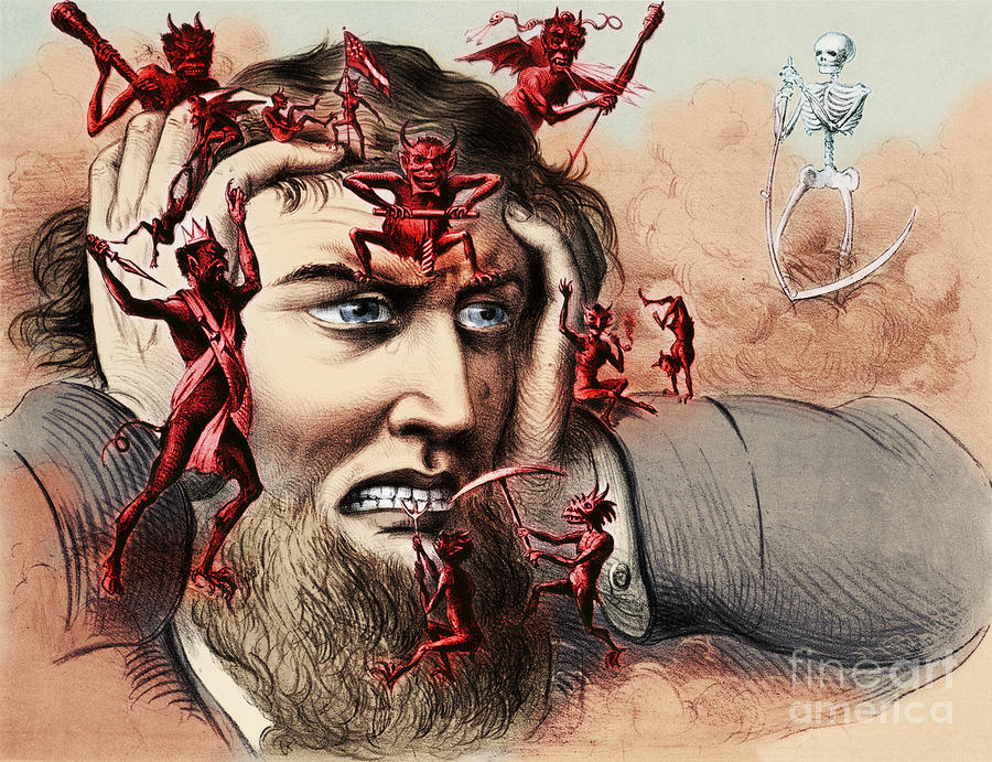 Head Pain Drawing - Pain by Omikron and Photo Researchers