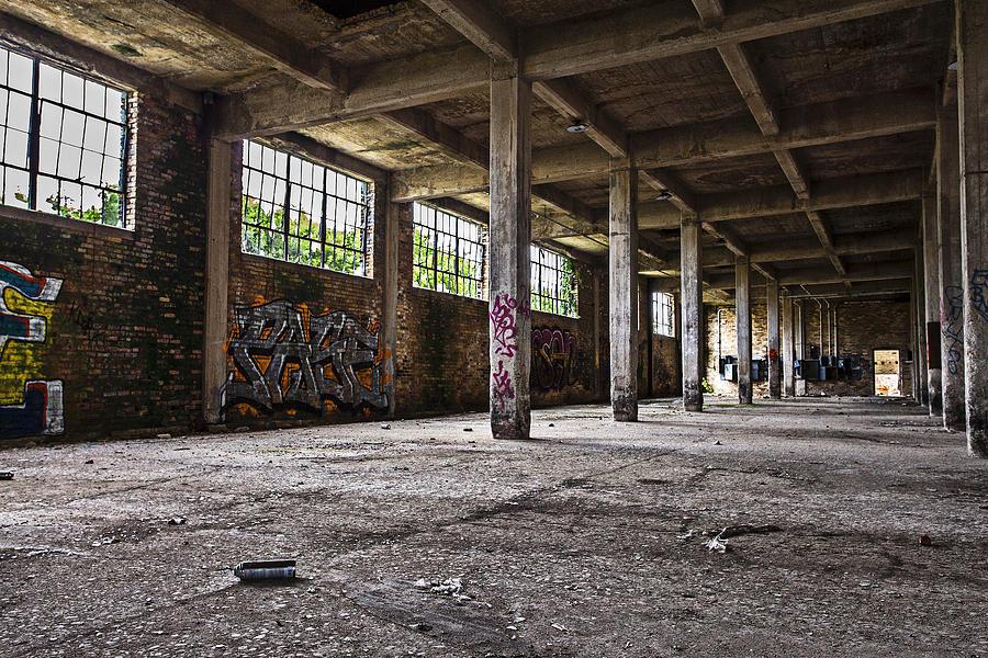 Oak Creek Photograph - Paint And Concrete by CJ Schmit