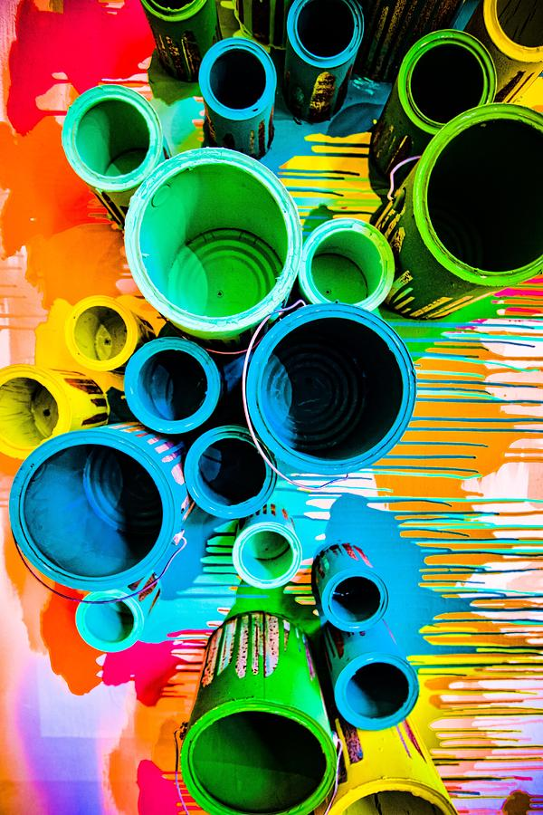 paint cans photograph by daniel landry