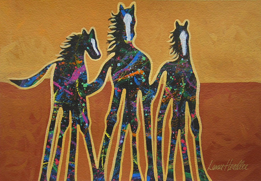 Horses Painting - Paint My Ponies by Lance Headlee