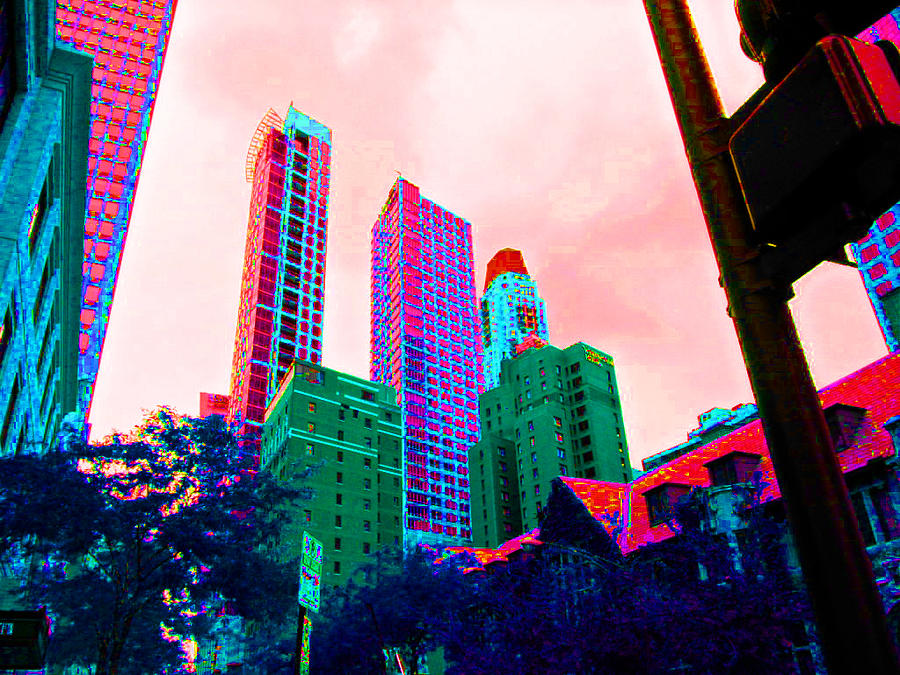 Chicago Photograph - Paint The Town Red by Val Oconnor