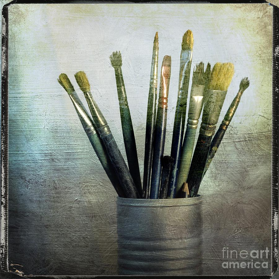 Bristle Photograph - Paintbrushs by Bernard Jaubert