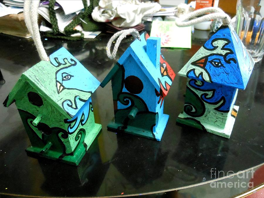 Painted Birdhouses Painting