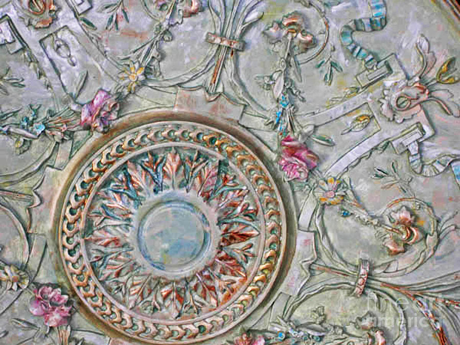painted-ceiling-medallion-32inch-lizi-beard-ward Painting A Mobile Home Ceiling on mdf beams for ceilings, painting mobile home cabinets, painting mobile home paneling, molding for cathedral ceilings, painting mobile home countertops,