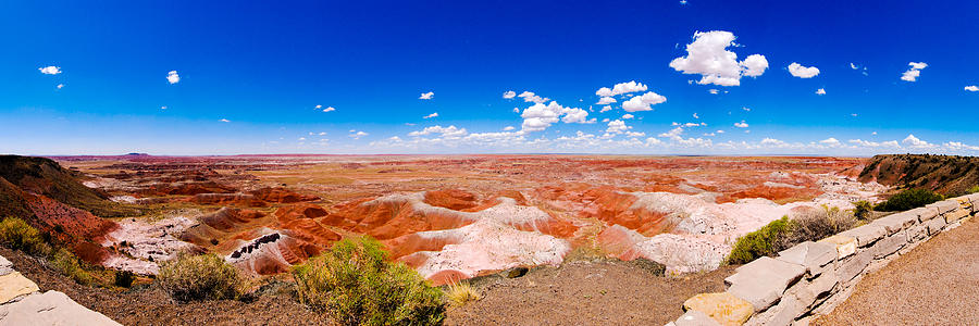 Painted Desert Photograph - Painted Desert Panorama by David Waldo