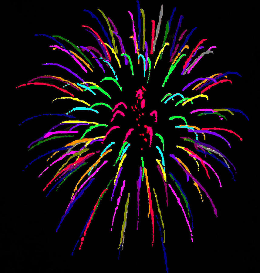 Painted Fireworks Photograph by Joan Powell