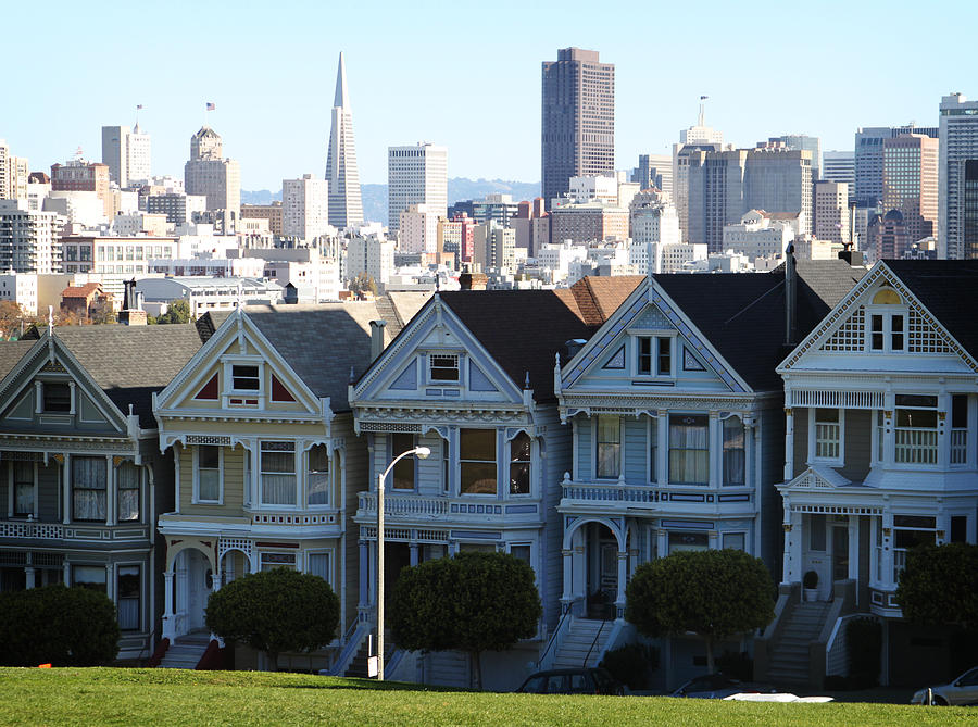 San Francisco Photograph - Painted Ladies by Linda Woods