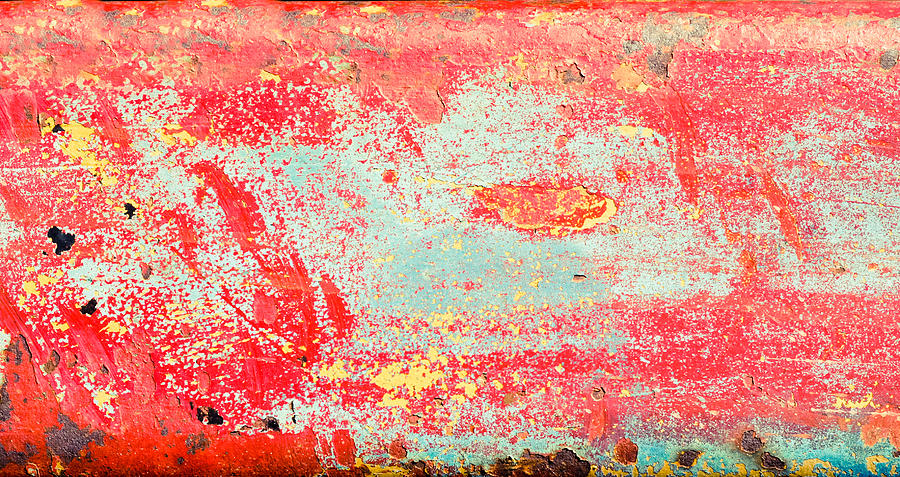 Abstract Photograph - Painted Metal by Tom Gowanlock