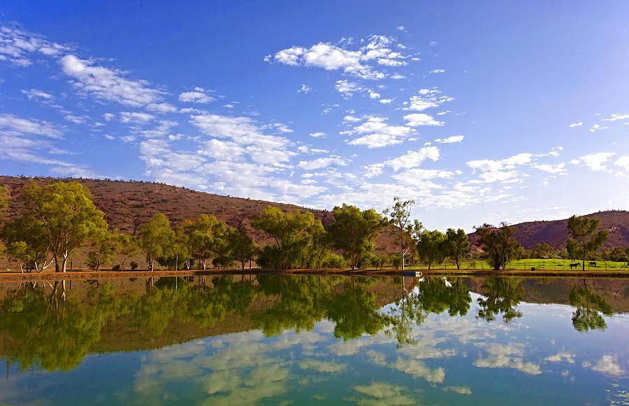 Australia Photograph - Painted Oasis by Paul Svensen