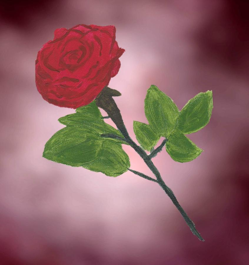 Chelsy Painting - Painted Rose by ChelsyLotze International Studio