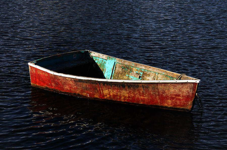 Rockport Photograph - Painted Row Boat by Mark Valentine