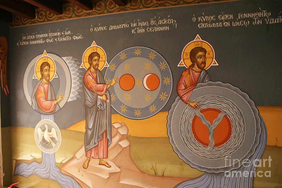 Monastery Photograph - Painting In Kykkos Monastery by Boris Suntsov