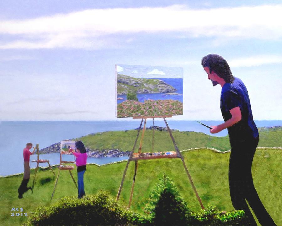 Maine Digital Art - Painting Manana  by Richard Stevens
