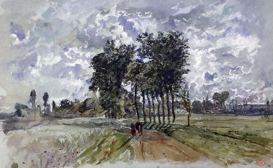 Horizontal Photograph - Painting Of Countryside by Photos.com