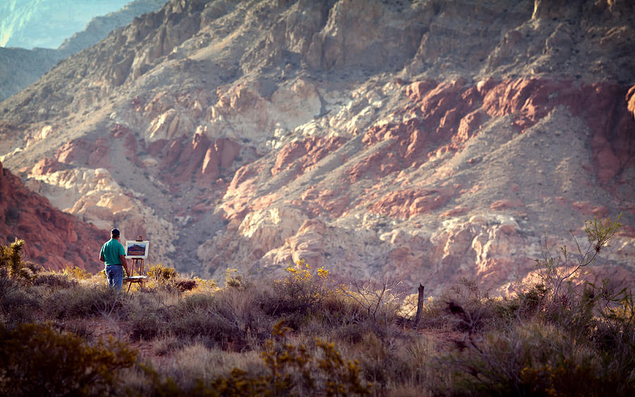 Painter Photograph - Painting Red Rock by Cody Boor