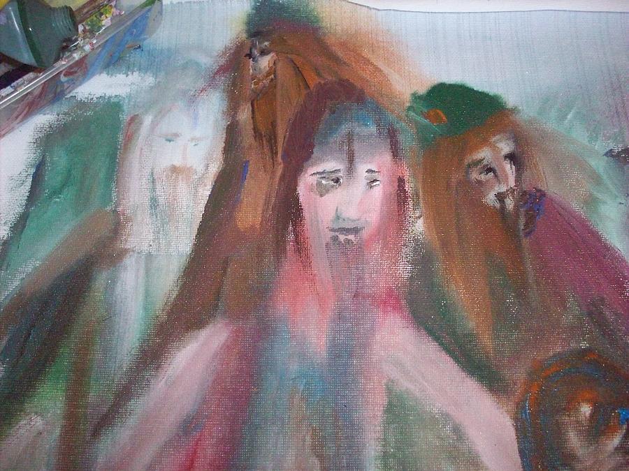 Vikings Painting - Painting Vikings by Judith Desrosiers