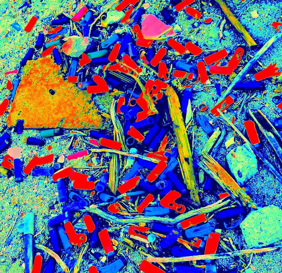 Debris Digital Art - Painting With Debris by Randall Weidner