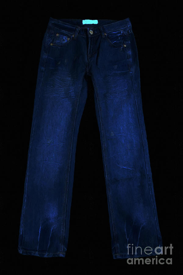 Blue Photograph - Pair Of Jeans 1 - Painterly by Wingsdomain Art and Photography