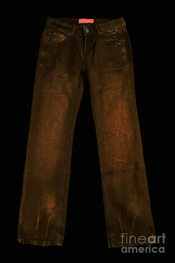 Brown Photograph - Pair Of Jeans 3 - Painterly by Wingsdomain Art and Photography