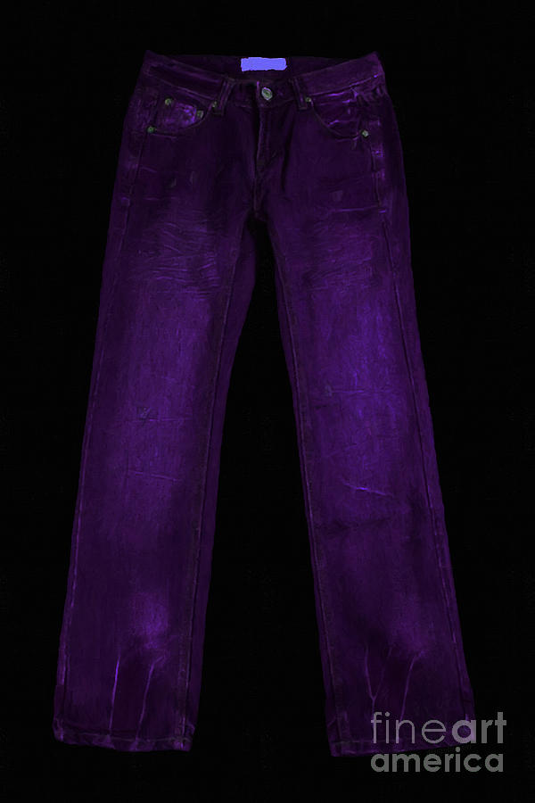 Purple Photograph - Pair Of Jeans 4 - Painterly by Wingsdomain Art and Photography