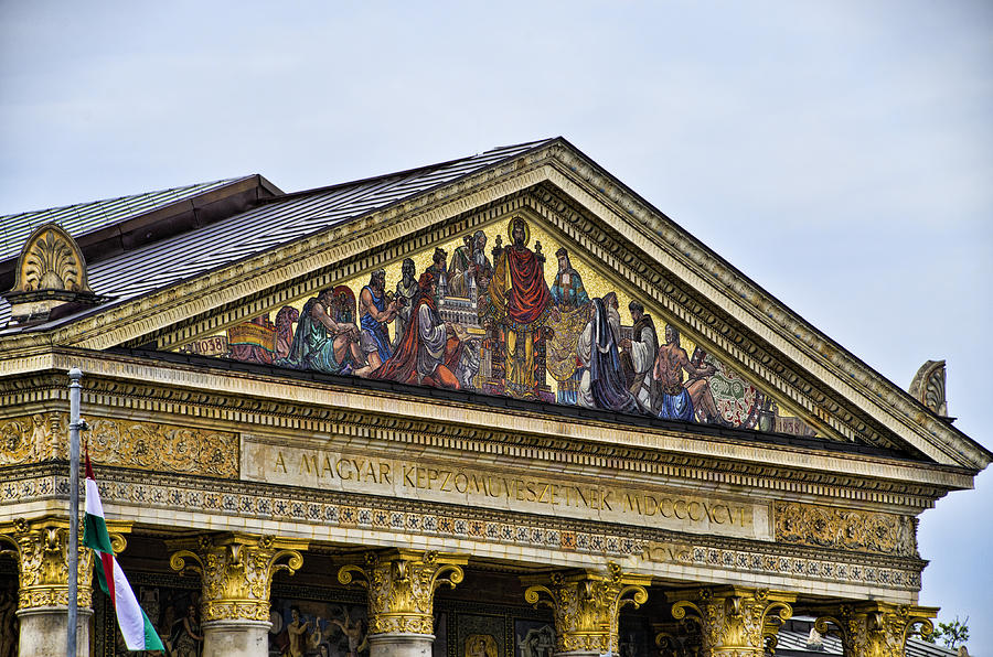 Heros Square Photograph - Palace Of Art - Heros Square - Budapest by Jon Berghoff