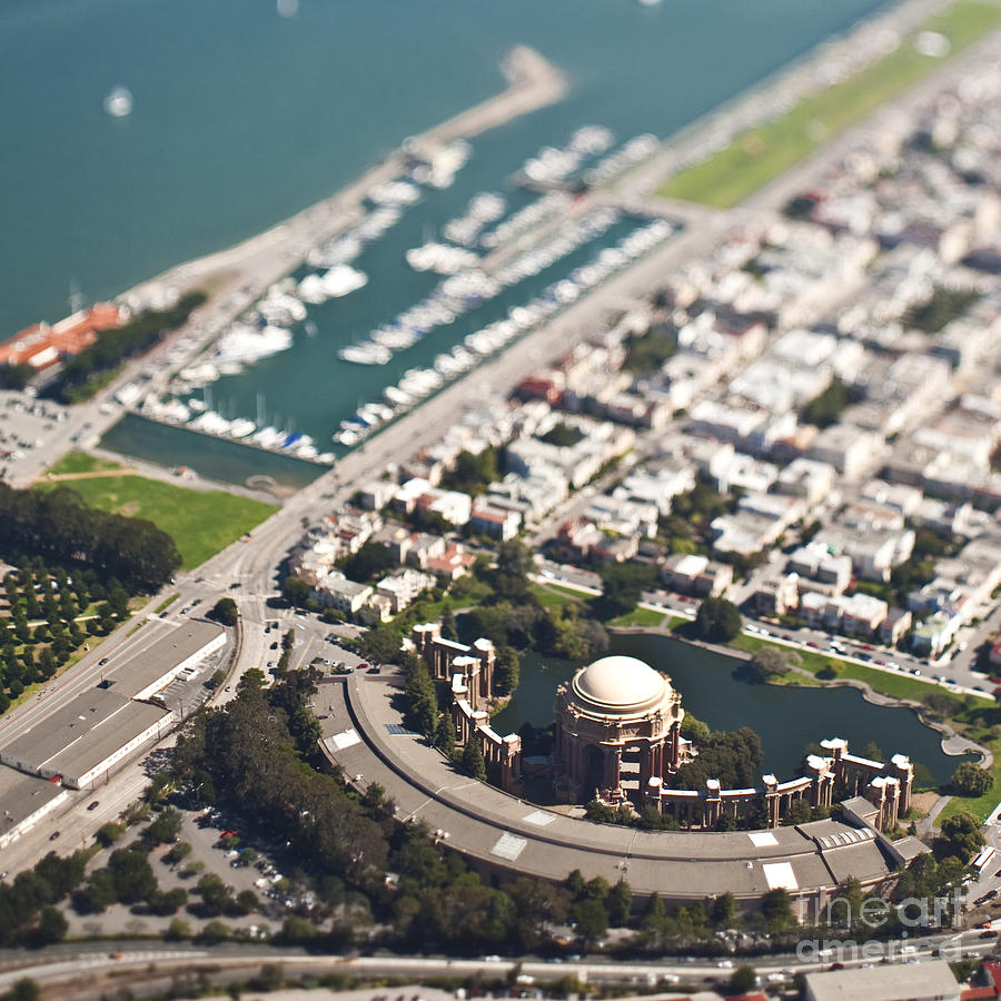 Aerial Photograph - Palace Of Fine Arts by Eddy Joaquim