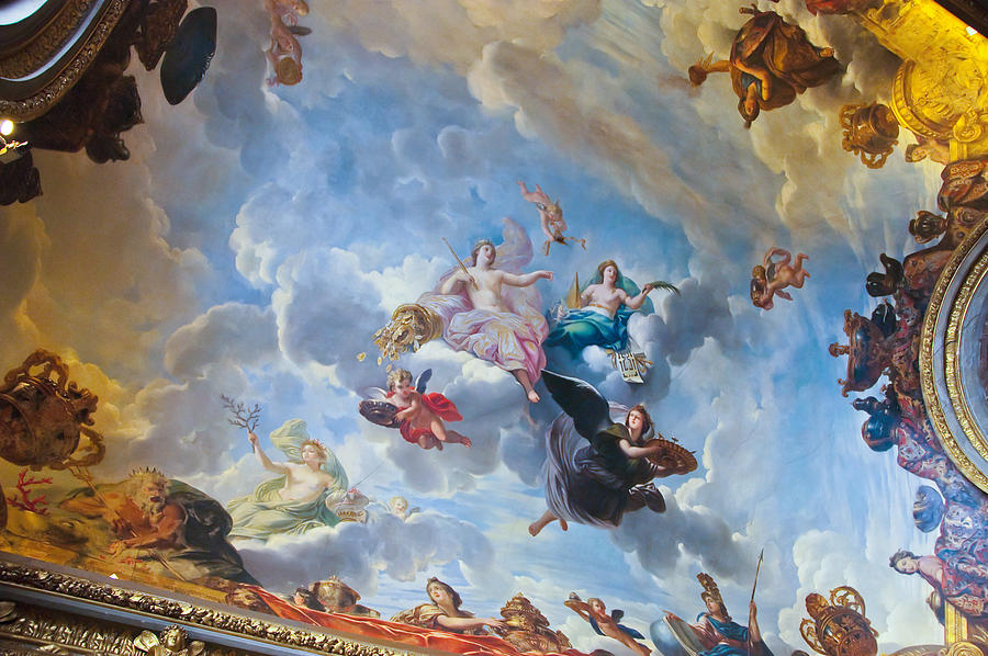 Palace of versailles ceiling art photograph by jon berghoff for Describe the mural on the ceiling of the stage