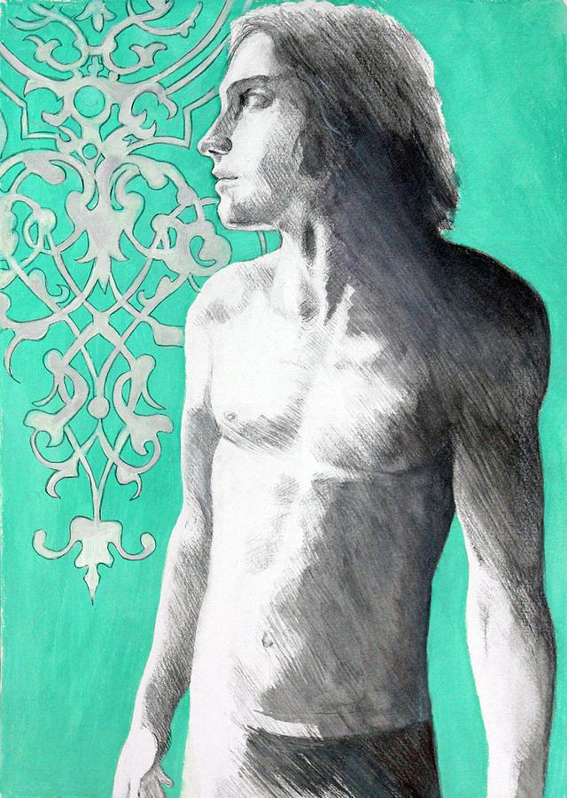 Oscar Wilde Painting - A Boy Named Dorian by Rene Capone