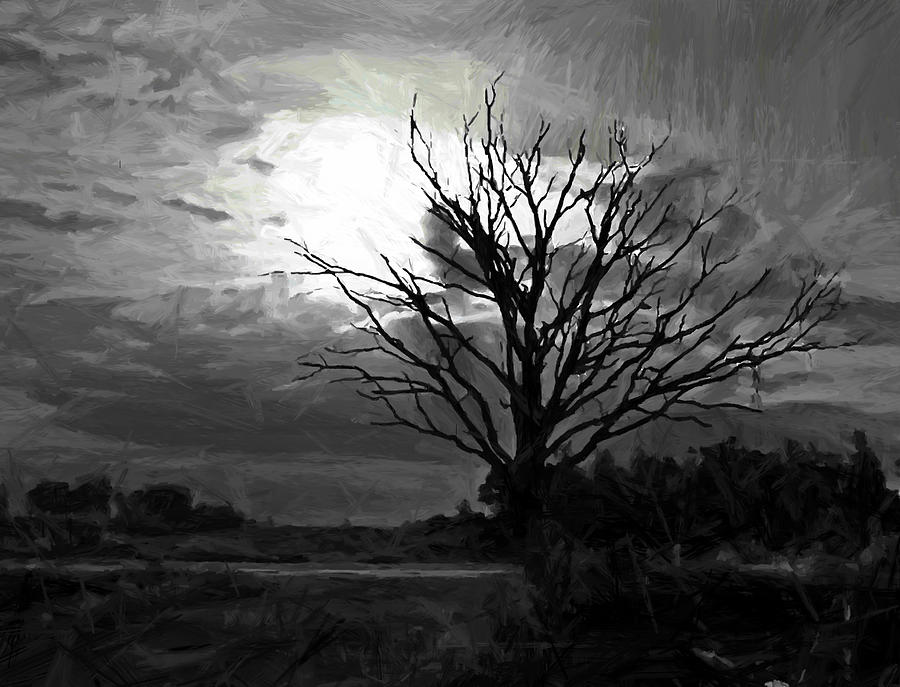 Pale Moon Rising Painting By Steve K