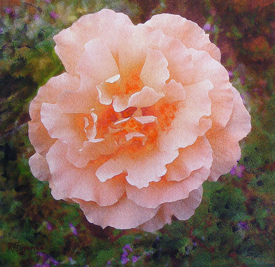 Pale Orange Begonia Painting
