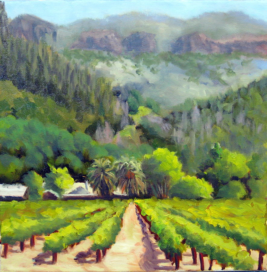 Vineyards Painting - Palisades Drive by Char Wood