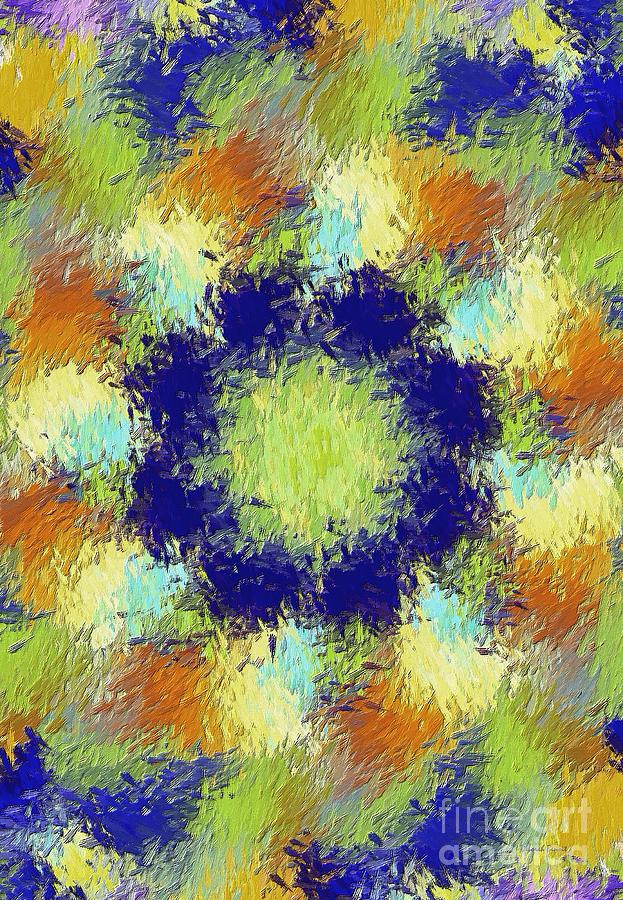 Abstract Digital Art - Pallet Of Colors by Deborah Benoit