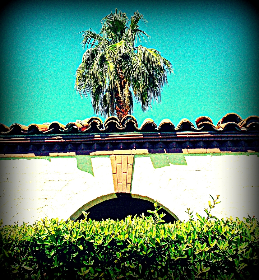 Palm Springs Architecture Photograph - Palm Springs Desert Spanish 4 by Randall Weidner