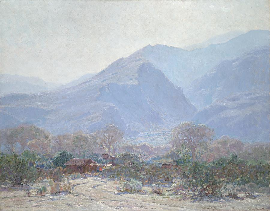 Resort Painting - Palm Springs Landscape With Shack by John Frost