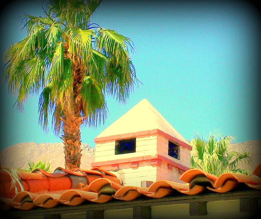 Colonial Revival Architecture Photograph - Palm Springs Pyramid Colonial by Randall Weidner