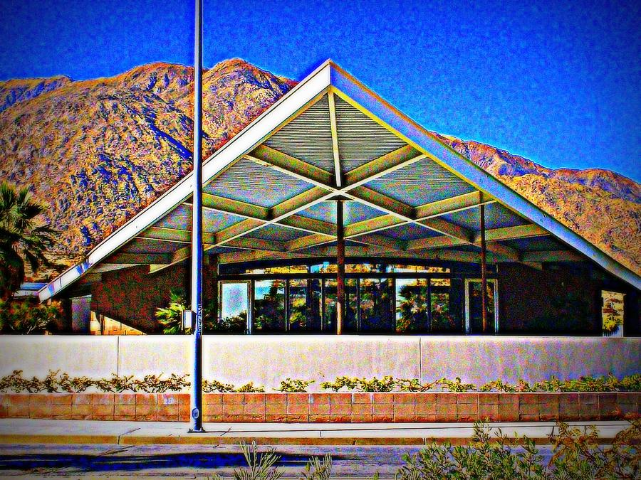 Palm Springs Photograph - Palm Springs Visitor Center Tramway Gas Station by Randall Weidner