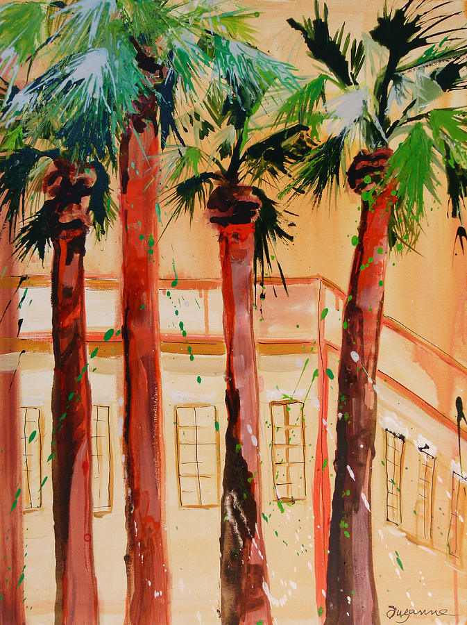 Palm Trees Painting - Palm Trees by Suzanne Willis
