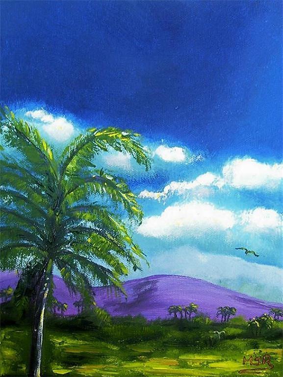 Cuba Painting - Palma Real by Maria Soto Robbins