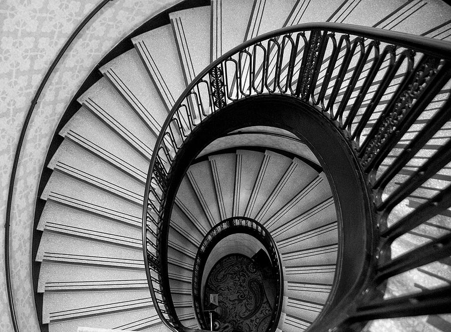 Spiral Stairs Photograph   Palmer House Staircase By Sheryl Thomas