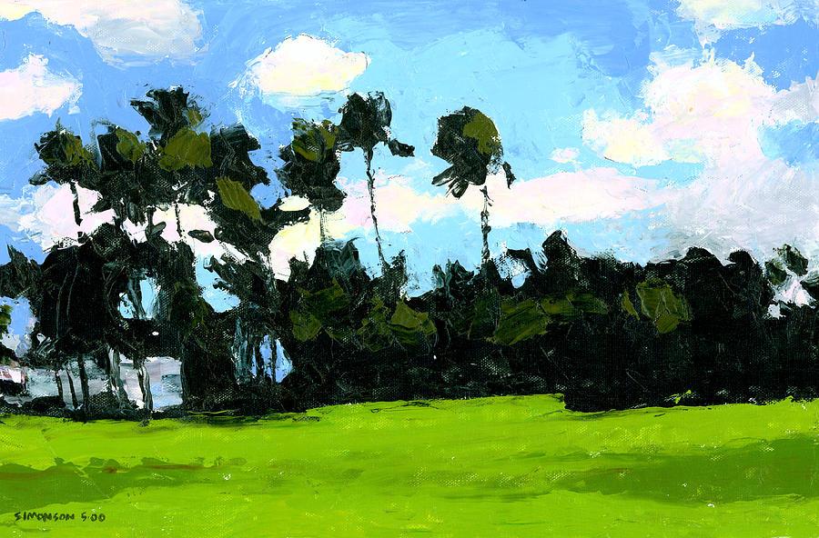 Palm Painting - Palms At Kapiolani Park by Douglas Simonson