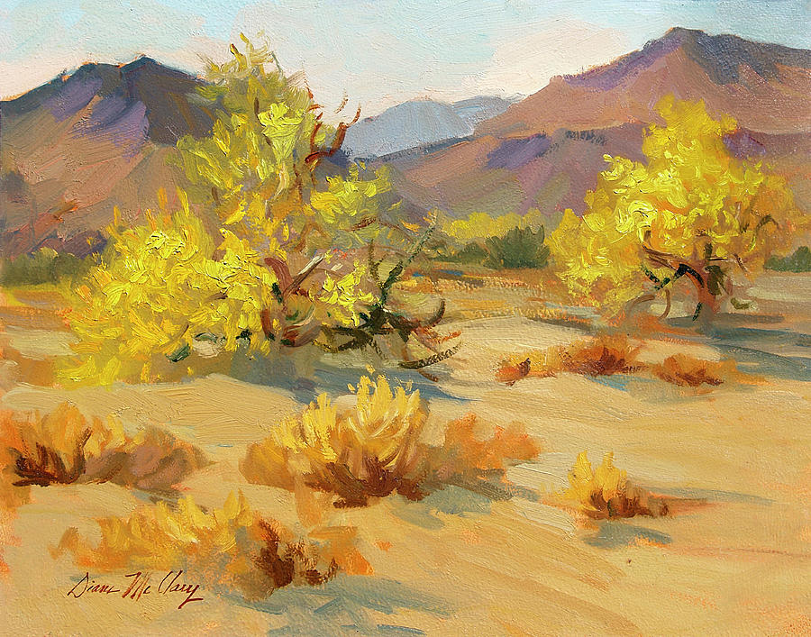 Palm Springs Painting - Palo Verde In Bloom by Diane McClary