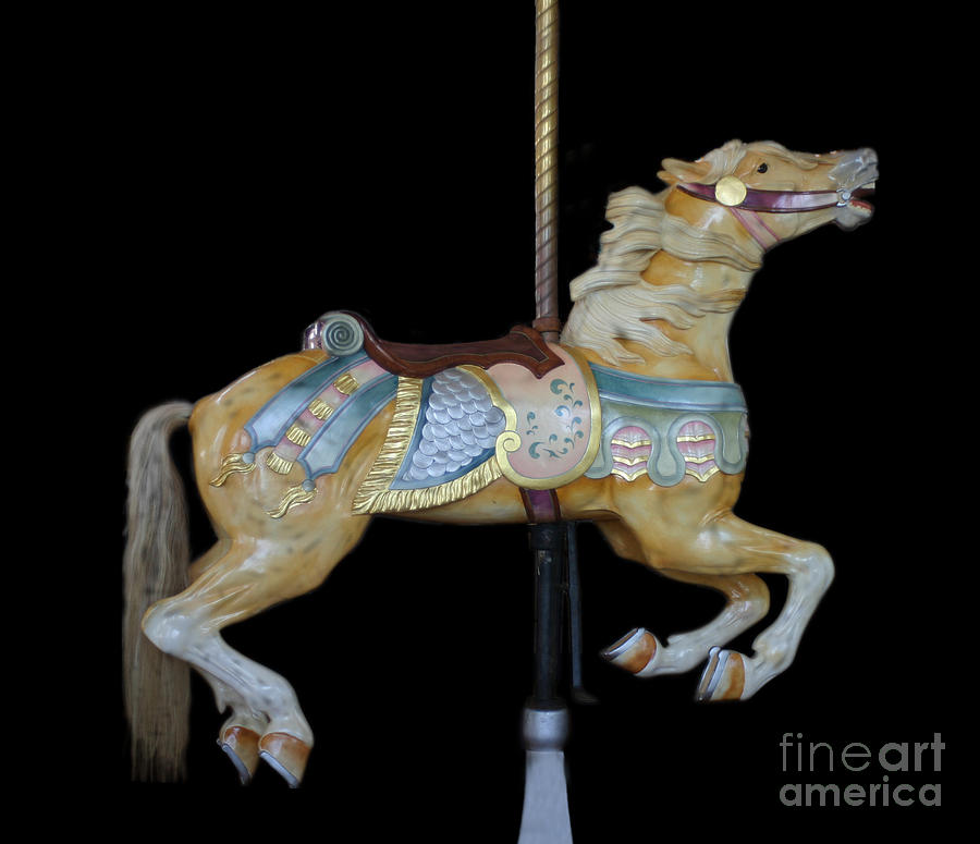 Carousel Photograph - Palomino Carousel Horse by Cindy Lee Longhini