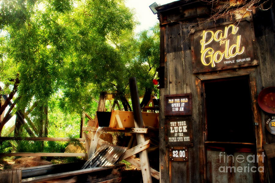 Pan For Gold Photograph - Pan For Gold In Old Tuscon Arizona by Susanne Van Hulst