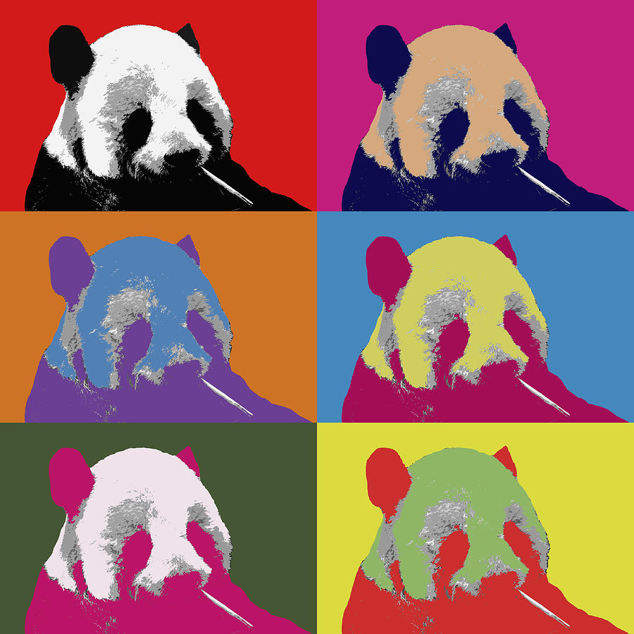 panda pop art 2 photograph by lou ford. Black Bedroom Furniture Sets. Home Design Ideas