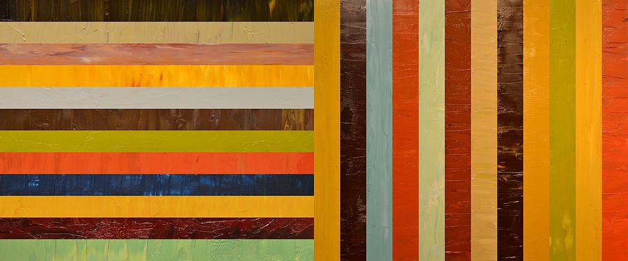 Abstract Painting - Panel Abstract - Digital Compilation by Michelle Calkins