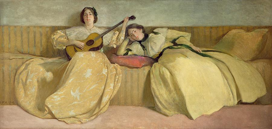 Panel For Music Room Painting By John White Alexander