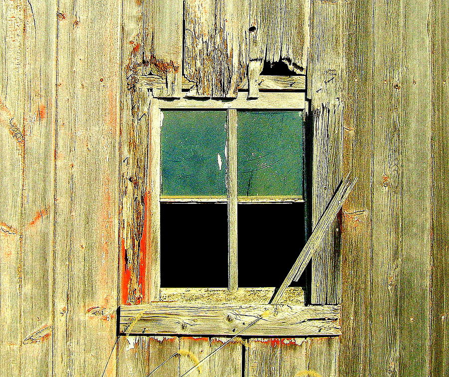 Window Photograph - Paneless by Claude Oesterreicher